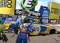 Feb 26, 2017; Chandler, AZ, USA; NHRA funny car driver Ron Capps during the Arizona Nationals at Wild Horse Pass Motorsports Park. Mandatory Credit: Mark J. Rebilas-USA TODAY Sports