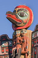 Totems at the entrance to Saxman Village, Ketchikan, Alaska.