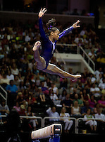 Elizabeth Price of Parkettes competes on the beam during 2012 US Olympic Trials Gymnastics Finals at HP Pavilion in San Jose, California on July 1st, 2012.