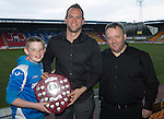 St Johnstone Player of the Year Awards...04.05.13.We Are Perth Forum Player of the Year Award went to Alan Mannus presnted by John and Grant Wood.Picture by Graeme Hart..Copyright Perthshire Picture Agency.Tel: 01738 623350  Mobile: 07990 594431