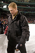 Greg Brown (BC - Assistant Coach) - The Boston University Terriers defeated the Boston College Eagles 3-2 on Friday, January 8, 2010, at Fenway Park in Boston, Massachusetts, as part of the Sun Life Frozen Fenway doubleheader.