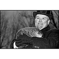 Ground Hog Day. Punxsutawney Phil with Bill Deeley
