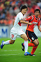 Kensuke Nagai (Grampus), Takuya Aoki (Ardija),.OCTOBER 22, 2011 - Football / Soccer :.2011 J.League Division 1 match between Omiya Ardija 2-3 Nagoya Grampus Eight at NACK5 Stadium Omiya in Saitama, Japan. (Photo by AFLO)