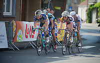 Pim Ligthart (NLD) &amp; Ga&euml;tan Bille (BEL) are among the last survivors of an early break in the final local lap<br /> <br /> Halle - Ingooigem 2013<br /> 197km
