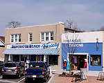 Rehoboth Beach Variety and Endeavour Trading (imports store).  Along Rehoboth Avenue, Rehoboth Beach, Delaware, USA.  © Rick Collier