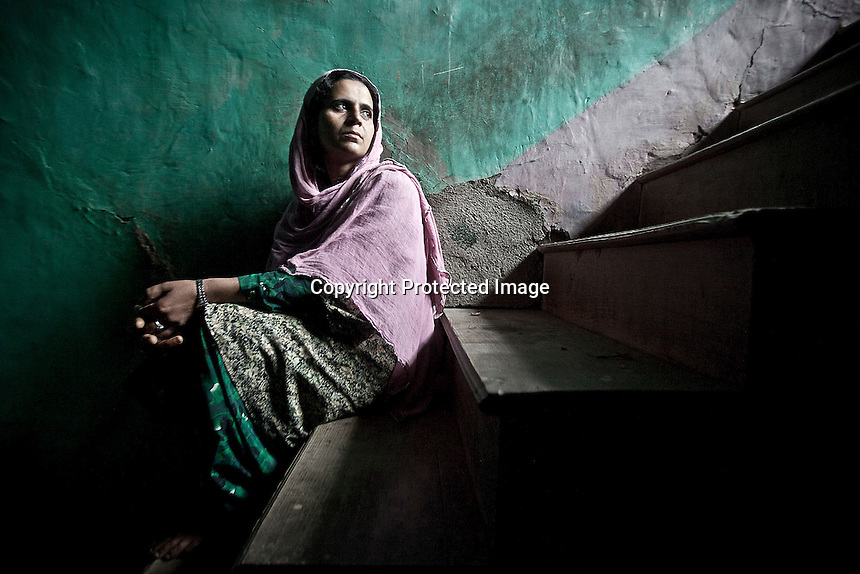 """Saleema is a half widow belonging Kawari village in Kupwara district, where several cases of enforced disappearance had taken place. Her husband Shabir Ahemad was a soldier in anIndian army unity when was missing on duty. Army declared him """"defector who ran away to Pakistan"""". However in 2006 Shabir was disappeared  when was going back from Holidays to the army base camp. Kupwara district, Indian administrated Kashmir."""