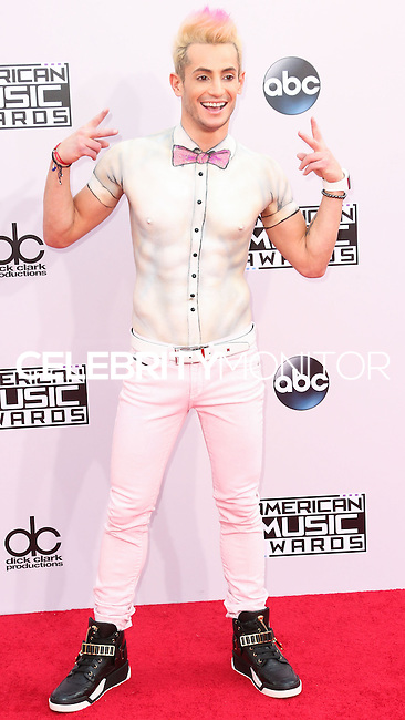 LOS ANGELES, CA, USA - NOVEMBER 23: Frankie J. Grande arrives at the 2014 American Music Awards held at Nokia Theatre L.A. Live on November 23, 2014 in Los Angeles, California, United States. (Photo by Xavier Collin/Celebrity Monitor)