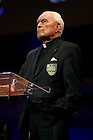 Rev. Theodore M. Hesburgh C.S.C. speaks at the Campaign launch event in May 2007.