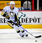 3 February 2009: Pittsburgh Penguins' right wing forward Miroslav Satan from Slovakia warms up prior to a game against the Montreal Canadiens at the Bell Centre in Montreal, Quebec, Canada. The Canadiens defeated the Penguins 4-2. ***** Editorial Sales Only ***** Mandatory Photo Credit: Ed Wolfstein Photo
