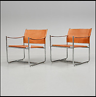 BNPS.co.uk (01202 558833)<br /> Pic: Barnebys/BNPS<br /> <br /> Amiral Steel &amp; leather chairs by Karin Mobring can fetch up to &pound;875.<br /> <br /> Ikea is famous for its low-cost furniture but vintage products from the budget retailer are now selling for up to &pound;50,000. <br /> <br /> The shockingly high prices are a result of a burgeoning market for furniture from the second half of the 20th century, when IKEA made its name. <br /> <br /> Within the last year the value of the Swedish manufacturer's most iconic designs have rocketed past their retail cost. <br /> <br /> Recently IKEA's 1944 'mushroom' or 'clam chair', measuring 30ins by 30ins, sold for &pound;50,000 - more than any other individual IKEA product on the market today.