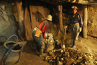 Miners working in Cerro Rico mine, Potosi, Bolivia