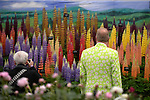 Visitors admire the floral displays in the great pavilion at at Chelsea flower Show. <br /> <br /> 18.5.15<br /> Bethany Clarke / RHS