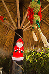 Mexican Christmas decorations at the beach at Ziwataneo, Mexico