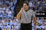 24 February 2015: Referee Raymond Styons. The University of North Carolina Tar Heels played the North Carolina State University Wolfpack in an NCAA Division I Men's basketball game at the Dean E. Smith Center in Chapel Hill, North Carolina. NC State won the game 58-46.