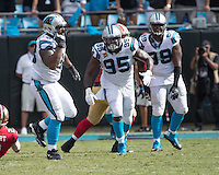 Charlotte, NC - September 18, 2016: The Carolina Panthers play the San Francisco 49ers at Bank of America Stadium.