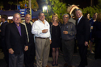 FREE_BoysAndGirls..Caption:(Thursday 11/05/2009 Tampa )Ron Morrick, Garry Smith, Sal Guagliardo, Teresa Oscher, Joe Capitano, Steve Oscher..Summary: 28th Annual Steak Dinner for Boys and Girls Club...Photo by James Branaman