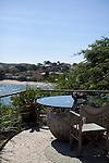 Pousada Insolito, owned by Countess Emmanuelle Meeus De Clermont Tonnerre, overlooks the Praia Ferradura, in Buzios, Brazil.