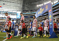 USMNT enters the field prior to the match against Honduras on July 24, 2013 at Dallas Cowboys Stadium in Arlington, TX.