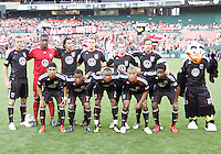 Starting eleven of D.C. United of the Colorado Rapids during an MLS match on May 15 2010, at RFK Stadium in Washington D.C. Colorado won 1-0.