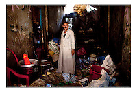 Egitto Cairo  quartiere copto Mokattam Garbage city