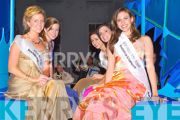 The Rose of Tralee Parade in Denny Street on Wednesday night.