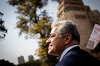 ©VIRGINIE NGUYEN HOANG/WOSTOK PRESS.Egypt,Cairo.20/05/2012..Hamdeen Sabbahi, Egyptian presidential candidate was making a tour in bus around Cairo for his last public appearance before the elections start.