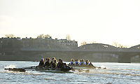 "London; GREAT BRITAIN; Oxford University Trial Eights for crew selection for 157th Boat Race Both crews in action, besides Dukes Meadows,  with Nurture taking a lead.  [April 2011]  raced over the Championship Course Putney to Mortlake  on the River Thames. Wednesday  08/12/2010   [Mandatory Credit; ""Photo, Peter Spurrier/Intersport-images].Crews.OUBC Nature; Surrey Station.Bow, Charlie AUER, 2. Tom WATSON, 3. Dan HARVEY, 4. David WHIFFIN, 5, Karl HUDSPITH, 6. Moritz HAFNER, 7. Ben MYERS, stroke. Constantine LOULOUDIS and cox Zoe DeTOLEDO...OUBC Nurture Middx Station [White Tops].Bow, George BLESSLEY, 2. Matt POINTING, 3. Alex WOODS, 4. Alex DENT, 5. Ben ELLISON,6. Simon HISLOP, 7. George WHITTAKER, Stroke Ben SNODIN and Cox Hannah LEADBETTER.."
