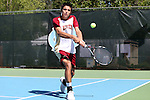 08 May 2015: Diogo Rocha (POR). The University of Denver Pioneers played the Mississippi State University Bulldogs at Cone-Kenfield Tennis Center in Chapel Hill, North Carolina in a 2015 NCAA Division I Men's Tennis Tournament First Round match. MSU won the match 4-3.