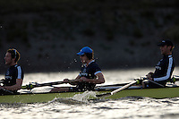 PUTNEY, LONDON, ENGLAND, 05.03.2006, Pre 2006 Boat Race Fixtures,.   © Peter Spurrier/Intersport-images.com, Oxford vs USA Crew,  Oxford's  Right, No.5 James Schroeder. No.6 Barney Williams, No. 7 Tom Parker, ..[Mandatory Credit Peter Spurrier/ Intersport Images] Varsity Boat Race, Rowing Course: River Thames, Championship course, Putney to Mortlake 4.25 Miles