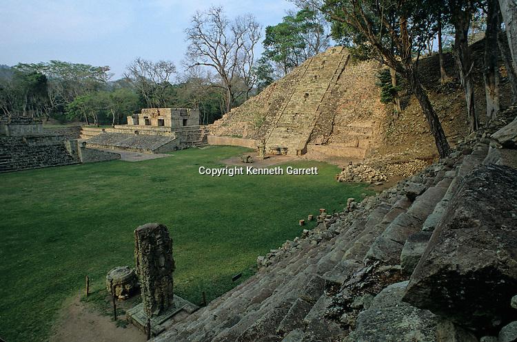 Temple 26, hieroglyphic staircase,  ball court; Maya; Copan; Honduras; Ancient Cultures; Americas; Ruta Maya