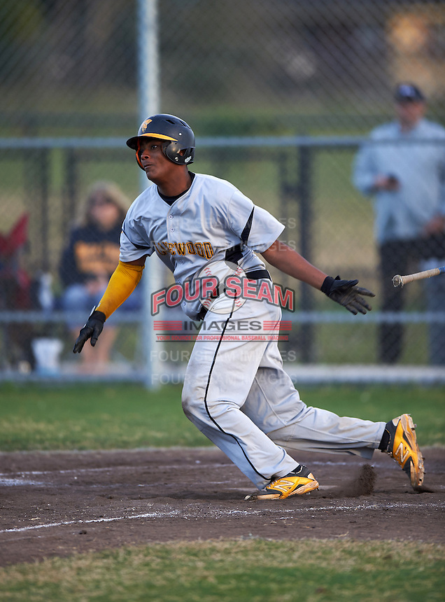 Lakewood Spartans catcher Marcus Bradley (22) during a game against the Boca Ciega Pirates at Boca Ciega High School on March 2, 2016 in St. Petersburg, Florida.  Boca Ciega defeated Lakewood 2-1.  (Mike Janes/Four Seam Images)