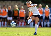 SAN DIEGO, CA - DECEMBER 02, 2012:  Christine Nairn (10) of Penn State University during the NCAA 2012 women's college championship match, at Torero Stadium, in San Diego, CA, on Sunday, December 02 2012. Carolina won 4-1.