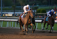 March 3, 2012. Ron The Greek and Joe Lezcano win the Santa Anita Handicap(GI) at Santa Anita Park in Arcadia, CA.