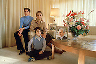 16 Nov 1979 --- The Empress of Iran, Farah Diba, the wife of the Shah of Iran, Mohammad Reza Shah Pahlavi with two of her four children, Prince Ali Reza and Princess Leila at home in New York. --- Image by © JP Laffont