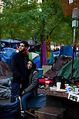New york, New York<br /> November 1, 2011<br /> <br /> &quot;Occupy Wall Street&quot; protesters in Zuccutti Park was born out of a movement against economic inequality, which began on September 17, 2011 and sparked protests nationwide and globally.