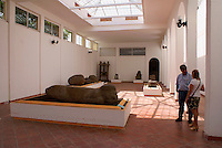 Olmec artifacts in the Museo Tuxteco in Santiago Tuxtla, Veracruz, Mexico