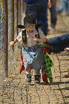 Junior rodeo clown Caseyn Pearson entertains the spectators at the Jordan Valley Big Loop Rodeo...