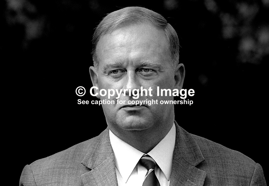 William Craig, Ulster Unionist politician, MP, Larne, in N Ireland Parliament at Parliament Buildings, Stormont, August 1970, 197008000299<br />