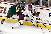 Yvan Pattyn (UVM - 15), Brooks Dyroff (BC - 14) - The Boston College Eagles defeated the University of Vermont Catamounts 4-1 on Friday, February 1, 2013, at Kelley Rink in Conte Forum in Chestnut Hill, Massachusetts.