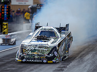 Jul 23, 2016; Morrison, CO, USA; NHRA funny car driver John Force during qualifying for the Mile High Nationals at Bandimere Speedway. Mandatory Credit: Mark J. Rebilas-USA TODAY Sports