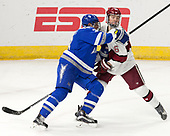 Johnny Hrabovsky (AFA - 3), Ryan Donato (Harvard - 16) - The Harvard University Crimson defeated the Air Force Academy Falcons 3-2 in the NCAA East Regional final on Saturday, March 25, 2017, at the Dunkin' Donuts Center in Providence, Rhode Island.