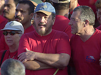 HABANA, CUBA: Fidel Castro Dias-Balart, (C) son of the Cuban President Fidel Castro assists the rally in the Square of the revolution, in Havana, May 1, 2004. Credit: Jorge Rey/MediaPunch