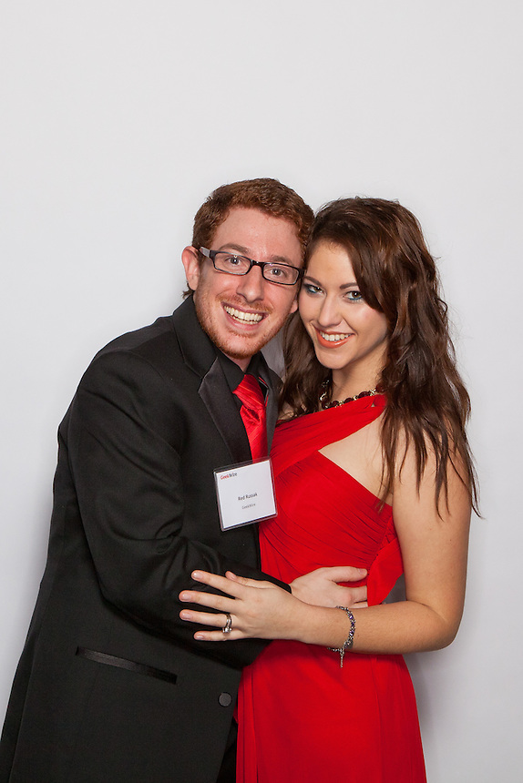 Red Box Pictures' photo booth for corporate events allows guests to create fun self-portraits at the GeekWire Gala at The Great Hall at Union Station in Seattle Thursday, Dec. 8, 2011. (Photography by Red Box Pictures)