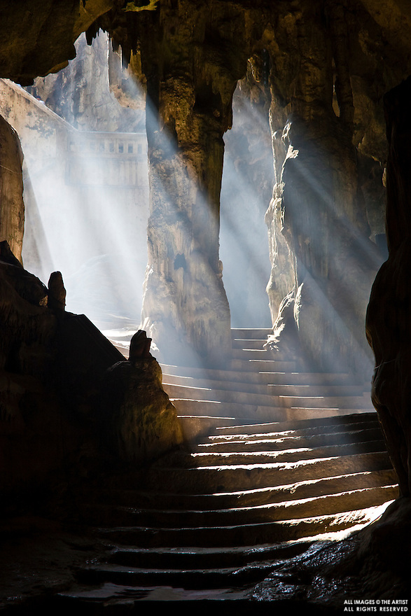 Khao Luang Caves, Phetchaburi (Phetburi), Thailand. A complex of three caves housing numerous Buddha images and pagodas, many put in place by King Rama IV