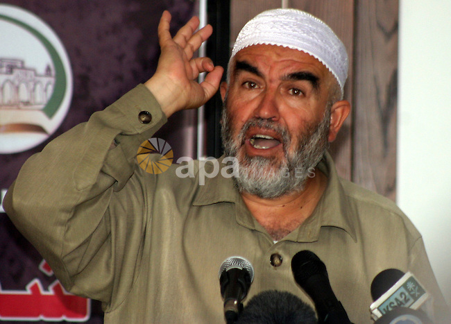 Sheikh Raed Salah, head of the islamic movement in Israel, hold press conference warning from the danger of tunnels under Silwan on Sep 17,2009. Photo by Mahfouz Abu Turk