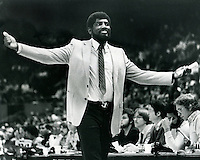 Golden State Warrior coach Alvin Attles (1975 photo by Ron Riesterer)