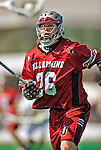 23 March 2008: Bellarmine University Knights' Andrew Wolford, a Sophomore from Columbus, Ohio, in action against the University of Vermont Catamounts at Moulton Winder Field, in Burlington, Vermont. The Catamounts defeated the visiting Knights 9-7 at the Vermont home opener...Mandatory Photo Credit: Ed Wolfstein Photo