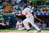 7 March 2009: #34 David Ortiz of the Dominican Republic is seen at bat during the 2009 World Baseball Classic Pool D match at Hiram Bithorn Stadium in San Juan, Puerto Rico. Netherlands pulled off a huge upset in their World Baseball Classic opener with a 3-2 victory over Dominican Republic.
