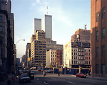 A perspective of the World Trade Center from Lispenard St. in 1999. This vantage point was made famous by Jules Naudet's filming of American Airlines flight 11 impacting the North Tower on September 11, 2001. He was filming the New York Fire Department on a call for routine gas leak on Lispenard St.