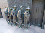 Washington DC; USA: The Franklin Delano Roosevelt Memorial. Sculpture of men waiting for a Soup Line to open.  .Photo copyright Lee Foster Photo # 14-washdc83256